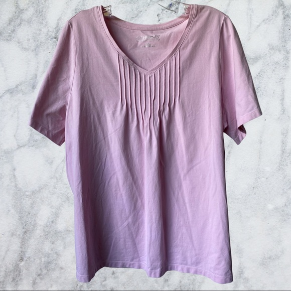 Catherines Suprema Collection Pink V-neck Tee